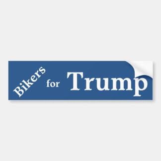 Bikers for Trump Bumper Sticker. Car Bumper Sticker