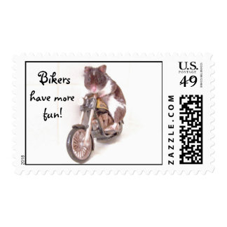 Bikers, have more fun! postage