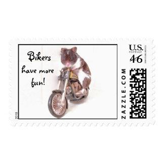 Bikers have more fun stamp