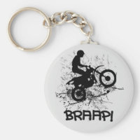 Bikers Motocross Dirt Bikers Mud Splatter Braap! Keychain