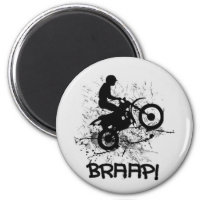 Bikers Motocross Dirt Bikers Mud Splatter Braap! Magnet