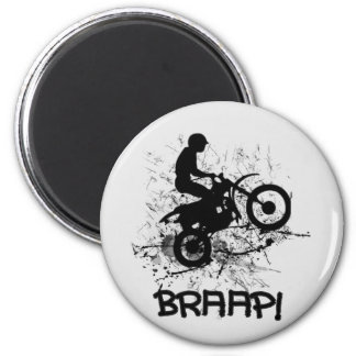 Bikers Motocross Dirt Bikers Mud Splatter Braap! Magnet