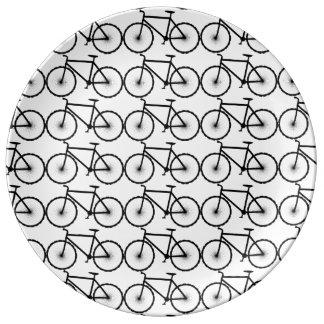 Bikes are fun porcelain plate