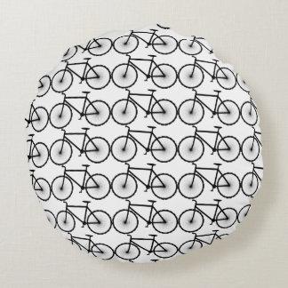 Bikes are fun round pillow