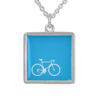 Bikes Bikes to the Future Sterling Silver Necklace