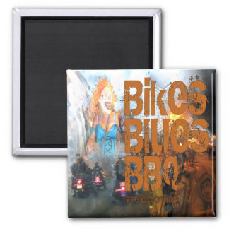 Bikes Blues BBQ Gifts Magnets