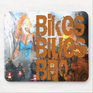 Bikes Blues BBQ Gifts Mouse Pad