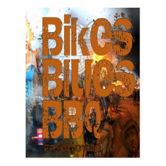 Bikes, Blues, BBQ greetings Postcard