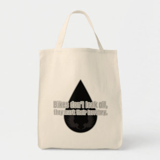 Bikes Don't Leak They Mark Territory Grocery Tote Bag