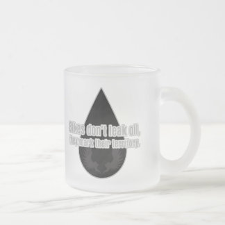 Bikes Don't Leak They Mark Territory Frosted Glass Coffee Mug