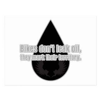 Bikes Don't Leak They Mark Territory Postcard