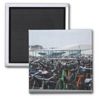 Bikes in Amsterdam Fridge Magnets