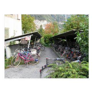 Bikes in Interlocken Postcard