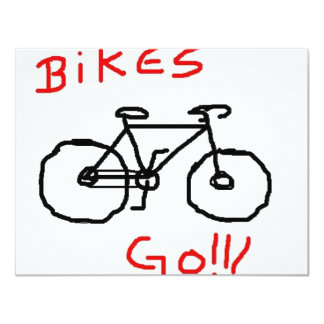 Bikes 4.25x5.5 Paper Invitation Card