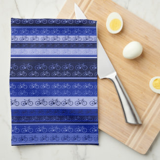 bikes on stripes kitchen towel