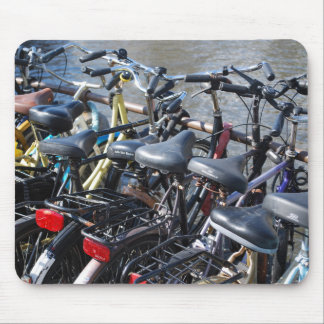 Bikes Parked in Amsterdam Mouse Pad