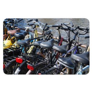 Bikes Parked in Amsterdam Vinyl Magnets