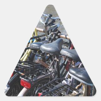 Bikes Parked in Amsterdam Triangle Sticker