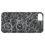 bikes pattern in black and white iPhone 5C case