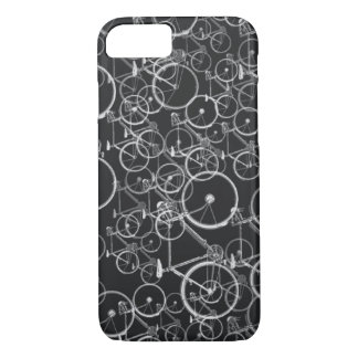 bikes pattern in black and white iPhone 7 case