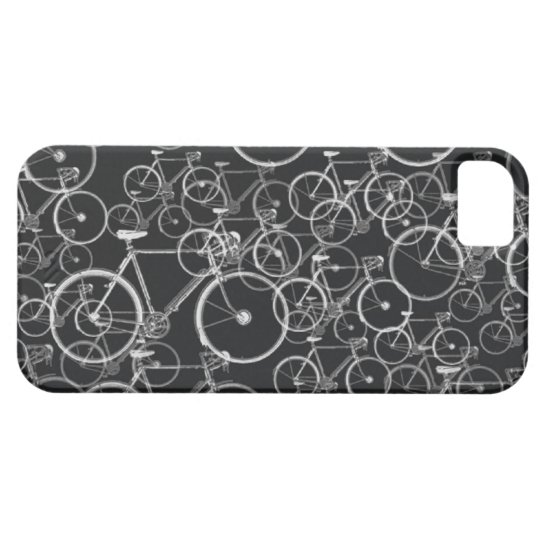 bikes pattern in black and white iPhone SE/5/5s case