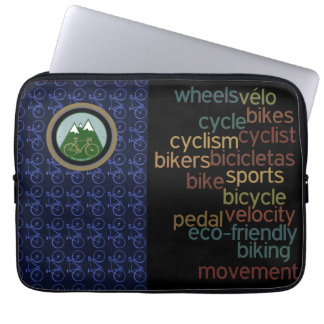 bikes related words computer sleeve