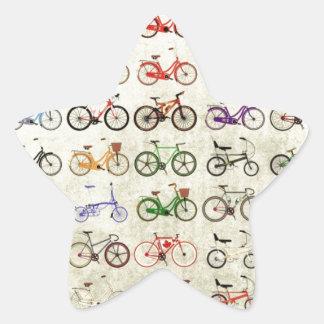 Bikes Star Sticker