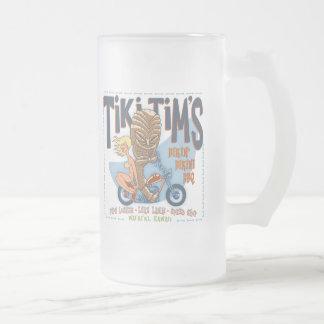 Bikin' Bikini BBQ Frosted Glass Beer Mug
