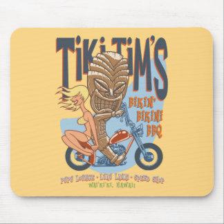 Bikin' Bikini BBQ Mouse Pad
