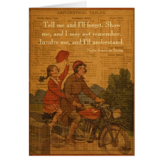 Biking Back to School Card