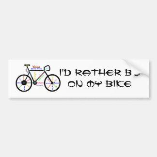 Biking bastante el deporte - el Biking, completand Pegatina De Parachoque