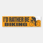 Biking bastante pegatina de parachoque