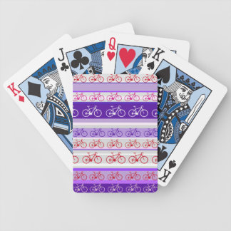 biking - bike stripes pattern bicycle playing cards