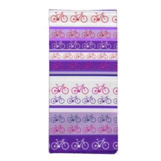 biking - bike stripes pattern napkin