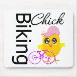 Biking Chick Mouse Pads