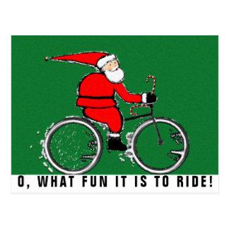 biking Christmas cards