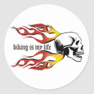 Biking Classic Round Sticker