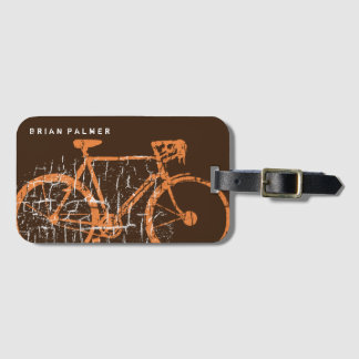 biking / cycling, bicycle personalized bag tag