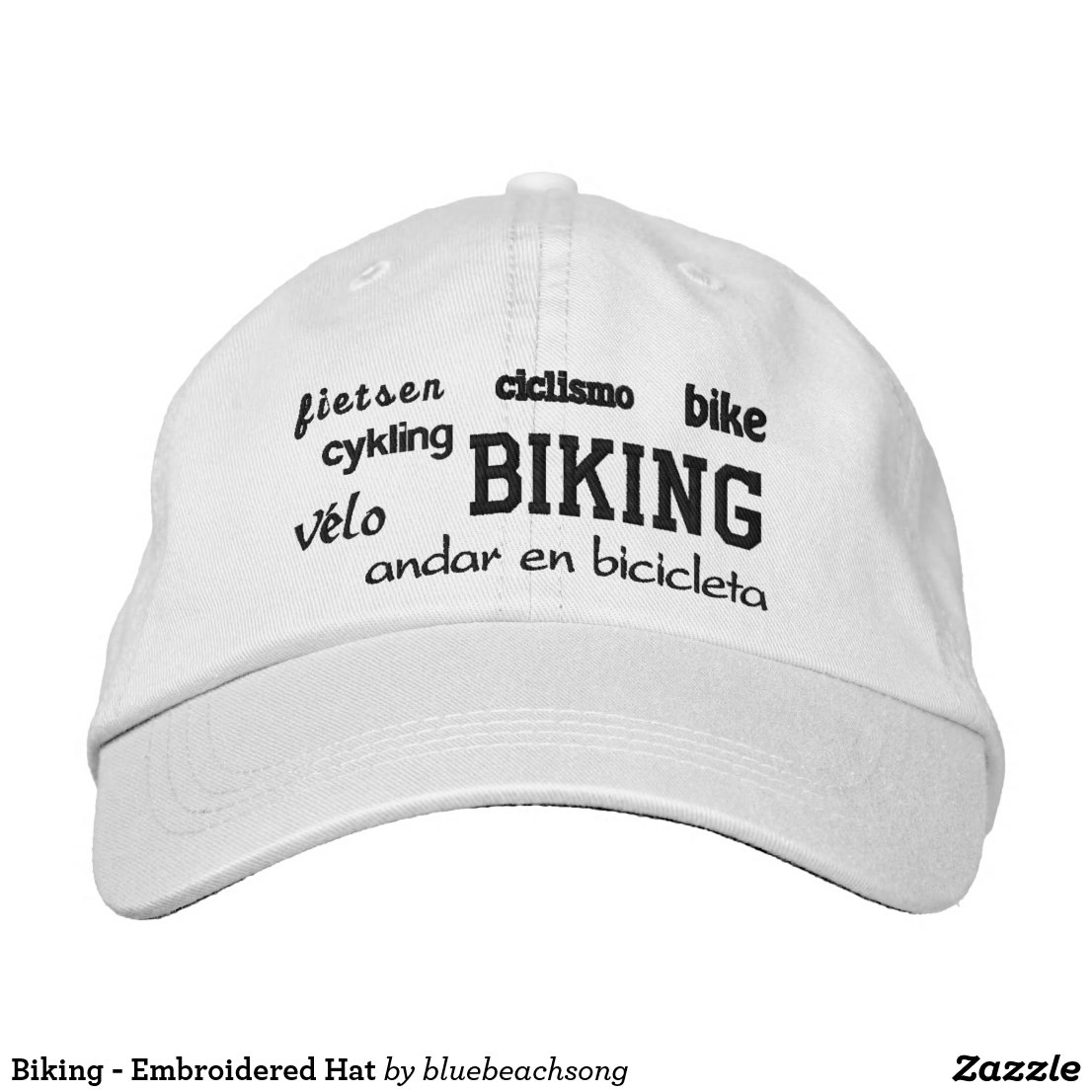 Biking - Embroidered Hat
