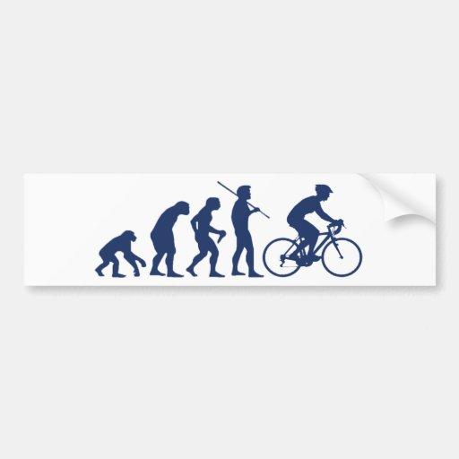 Biking Evolution Bumper Sticker