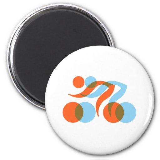 Biking_Fever_2_cyclers.png 2 Inch Round Magnet