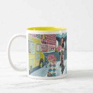 Biking Girl in Brooklyn New York   Mug