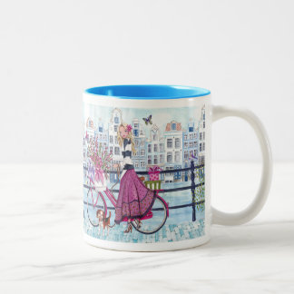 Biking in Amsterdam Bycicle Girl - Mug
