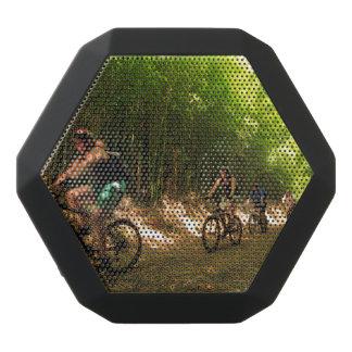 Biking in bamboo trail black bluetooth speaker