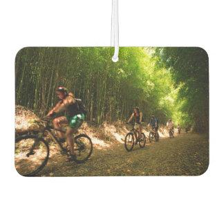 Biking in bamboo trail car air freshener