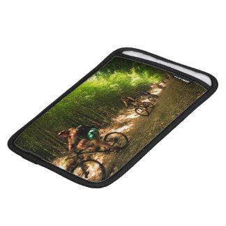 Biking in bamboo trail iPad mini sleeve