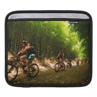 Biking in bamboo trail sleeve for iPads