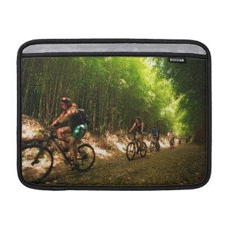 Biking in bamboo trail sleeve for MacBook air