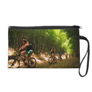 Biking in bamboo trail wristlet purse