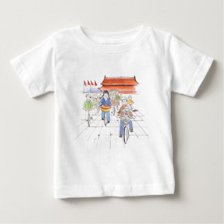 Biking in the Square infant T Baby T-Shirt